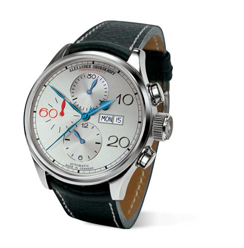 kunstvolle automatik chronograph deutsche luxusuhr alexander shorokhoff uhren